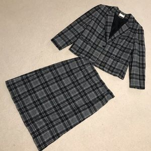 Pendleton Tartan Wool Skirt Suit